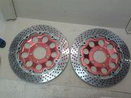 передние тормозные диски (комплект, левый и правый)  Suzuki  RF400